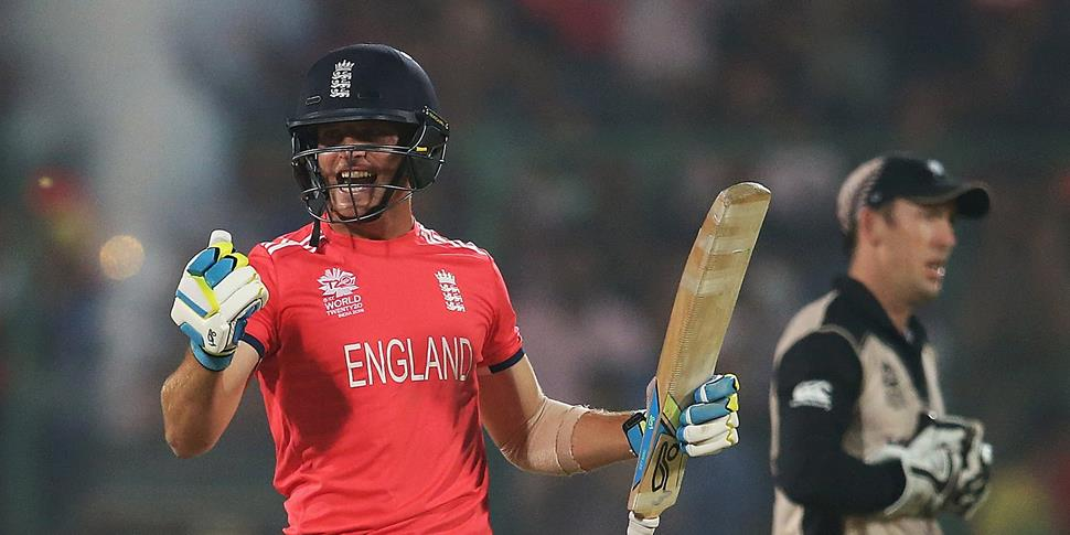 New England captain Jos Buttler celebrates for England in the T20 world cup.jpg