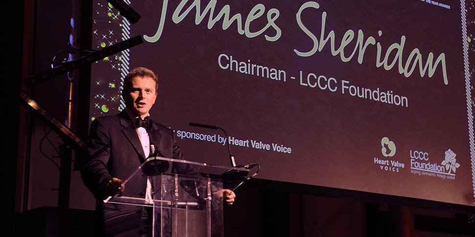 James Sheridan chairman of the LCCC Foundation at the Player of the Year Awards 2016.jpg