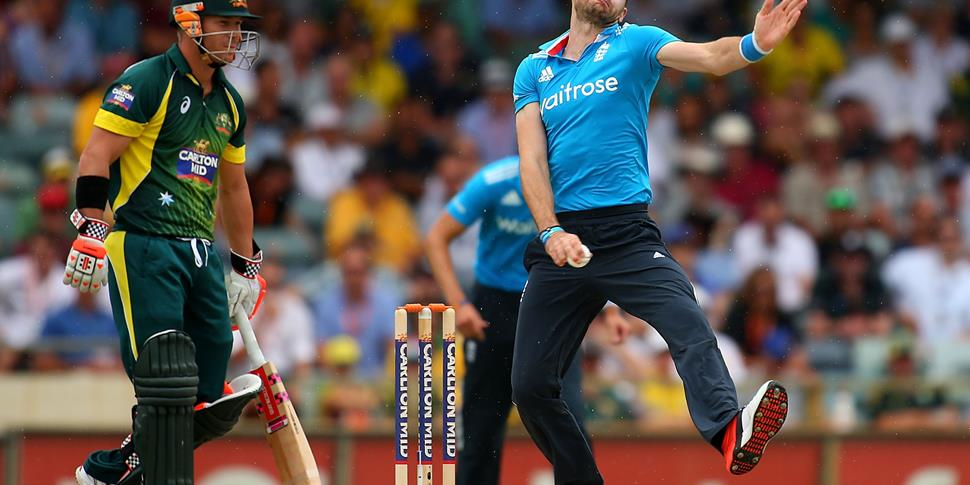 James Anderson of England bowls during the final match of the Carlton Mid One Day International series between Australia and England.jpg