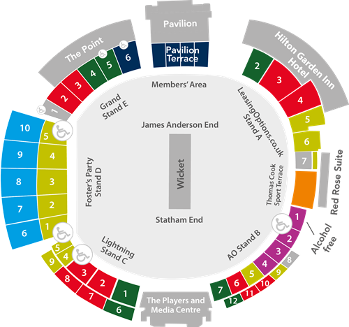 Ticketing Information And Seating Guide Lancashire