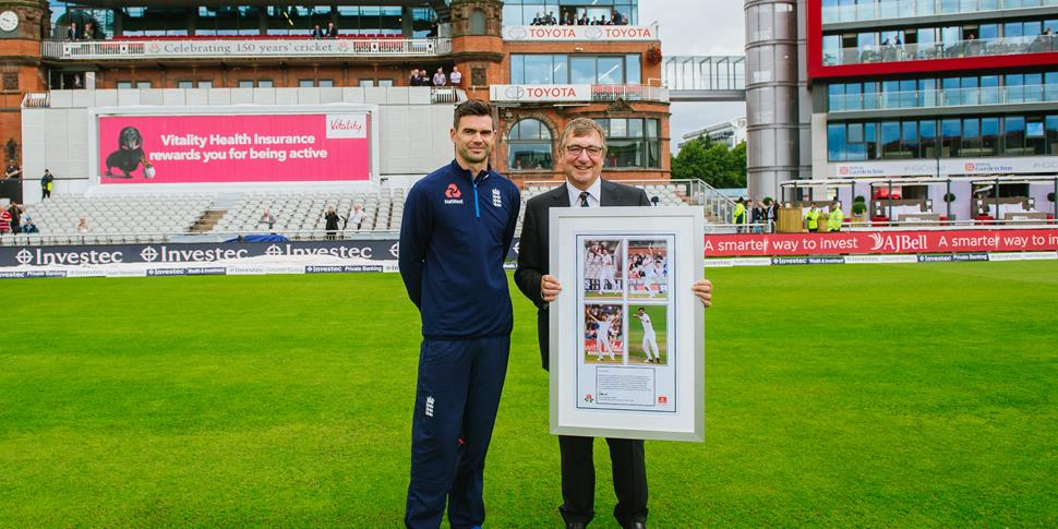 Pavilion End renamed the James Anderson End at Emirates Old Trafford.jpg