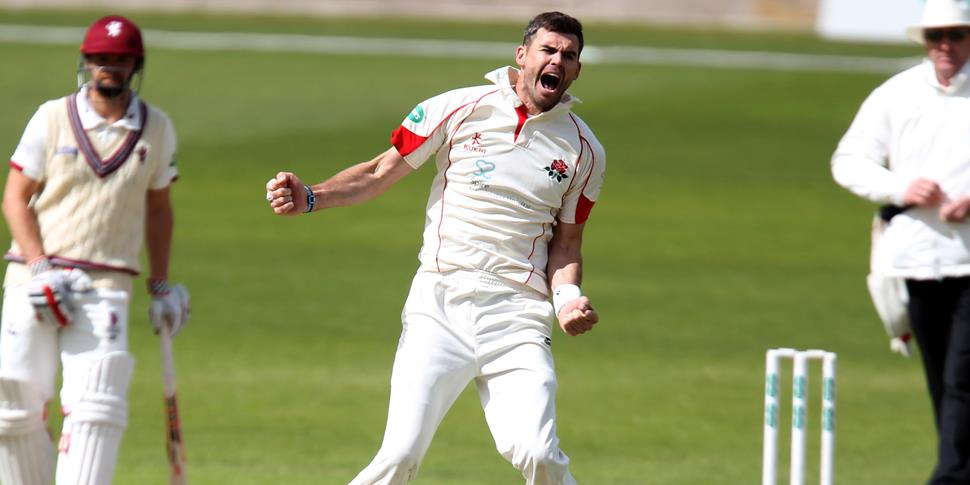 Anderson celebrates another wicket for Lancashire.JPG