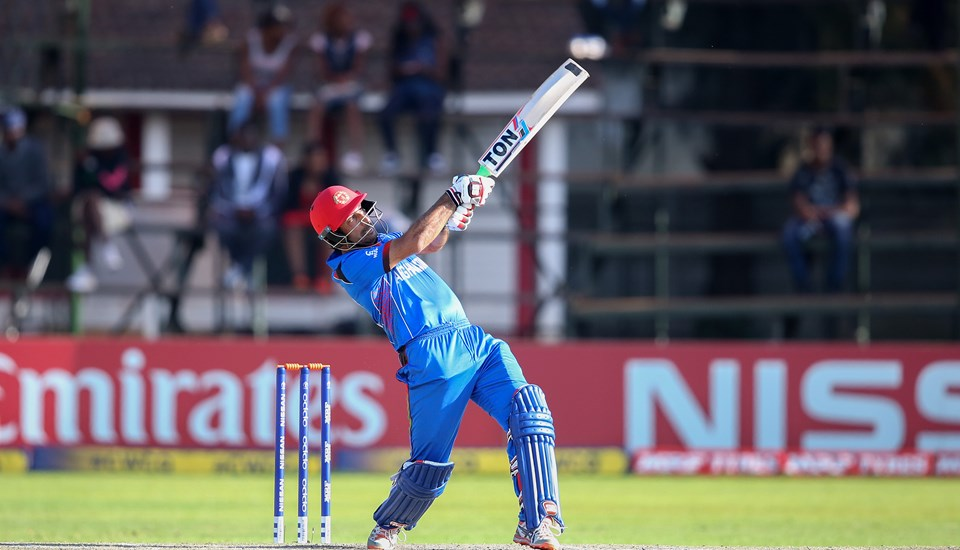 Mohamad Stanikzai of Afghanistan scores runs during The ICC Cricket World Cup Qualifier between Ireland and Afghanistan.jpg