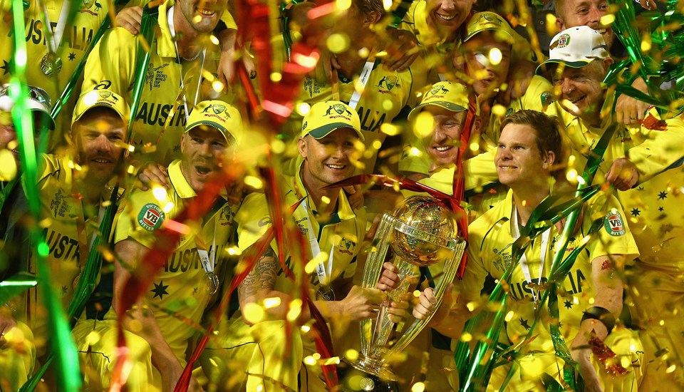 Australia lift the ICC Cricket World Cup trophy.jpg