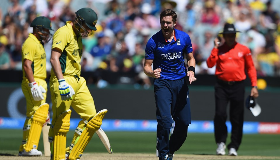 Chris Woakes of England celebrates after dismissing Steve SMith of Australia.jpg