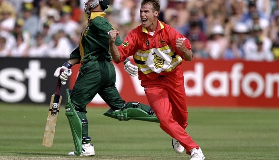Neil Johnson of ZImbabwe celebrates  wicket against South Africa.jpg