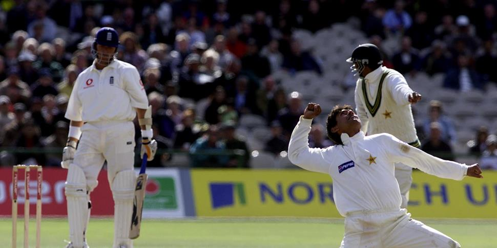 Pakistan celebrate during the defeat of england cricket in 2001.jpg