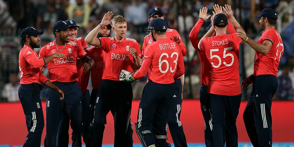 England IT20 Cricket team celebrate during the ICC World Cup and tickets will be released for the IT20 against Pakistan in September.jpg