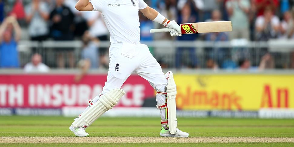 Joe Root also celebrated his century against Pakistan at Emirates Old Trafford.jpg