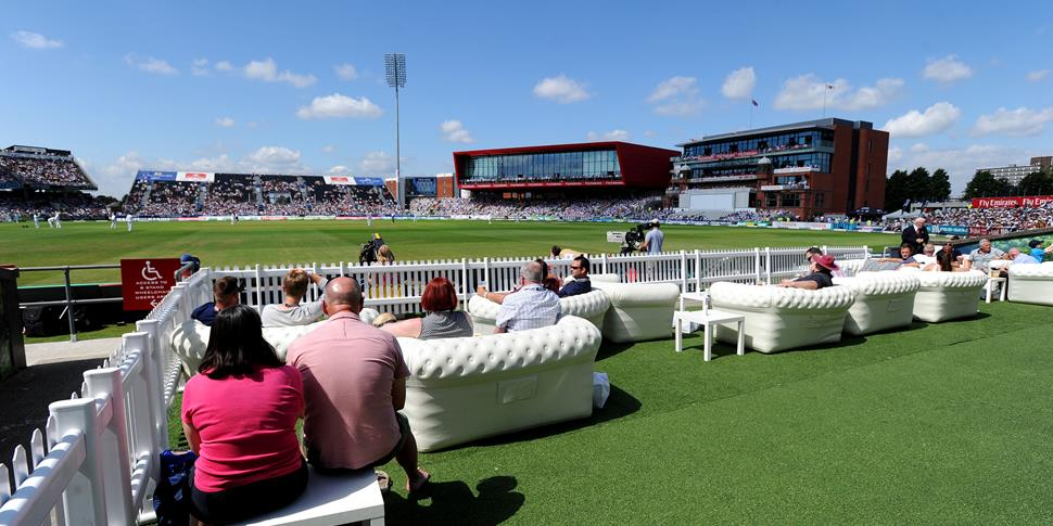 Fans enjoy the action from the Thomas Cook Sport Terrace underneath the Red Rose building.jpg