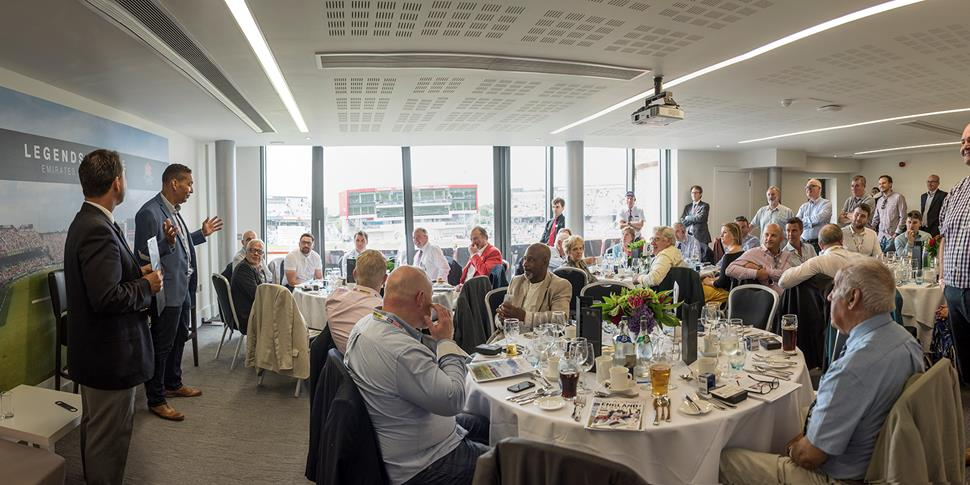 Legends Lounge matchday hospitality within the Pavilion for England cricket fixtures 2017.jpg