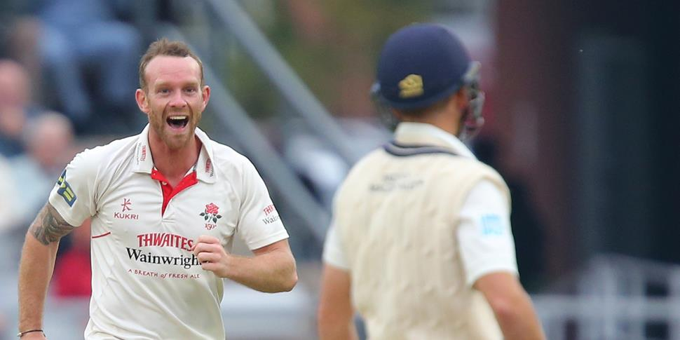 Luke Proctor claims a wicket for Lancashire County Cricket Club.jpg