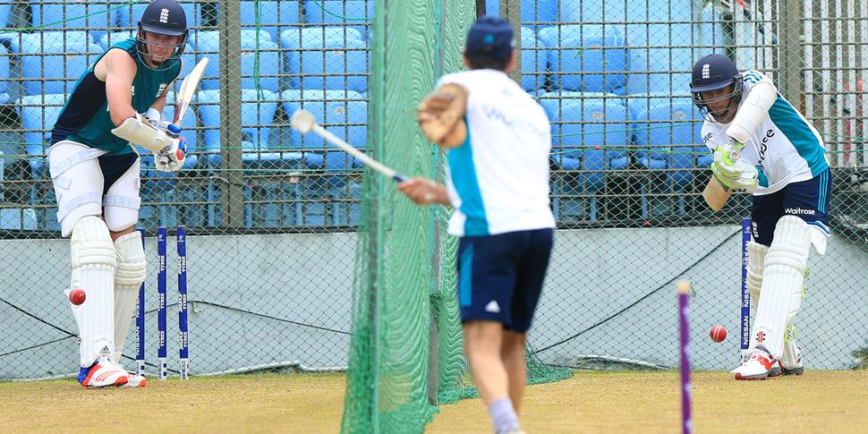 Haseeb Hameed training in the nets for England ahead of the Test against Bangladesh.jpg