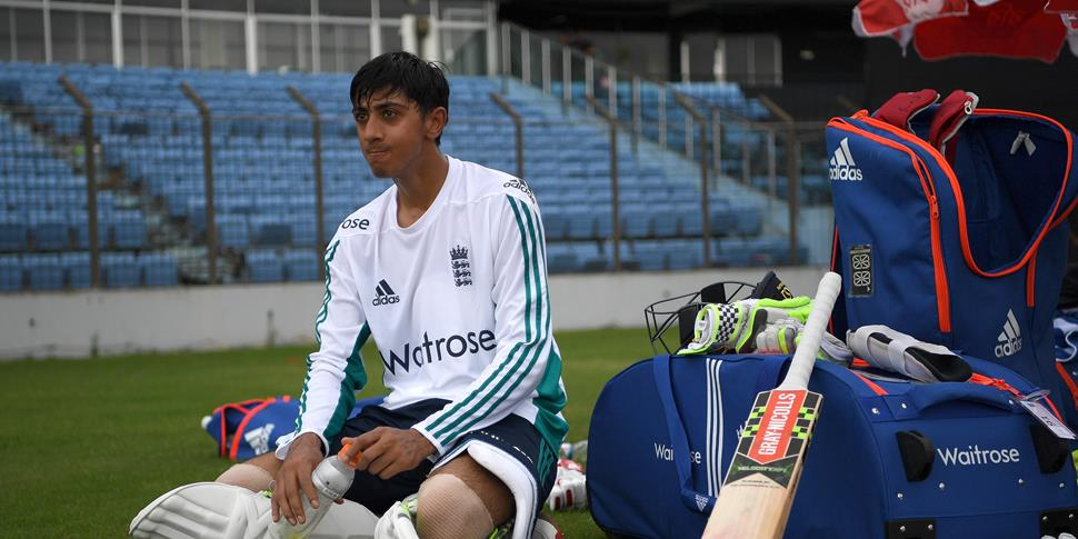 Haseeb Hameed waits to train ahead of England's Test Match against Bangladesh.jpg