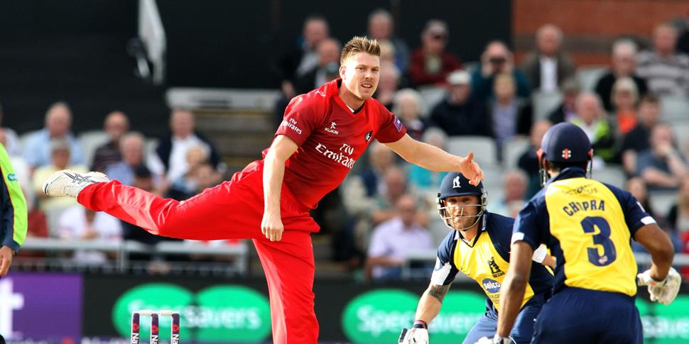 Lancashire Lightning bowler James Faulkner against Birmingham Bears in the NatWest T20 Blast.jpg
