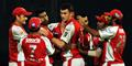 Kings XI Punjab players congratulate Ryan McLaren in the IPL.jpg