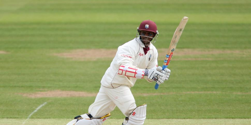 Lancashire CCC player Shivnarine Chanderpaul hits the ball for the West Indies.jpg