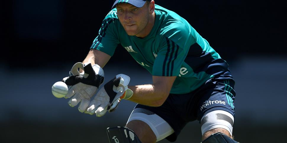 Lancashire CCC and England's Jos Buttler training for the West Indies ODI.jpg
