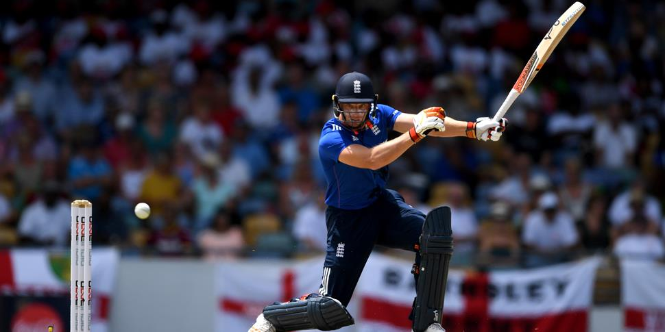 Lancashire CCC and England Jos Buttler playing in the One-Day International against the West Indies in Barbados.jpg
