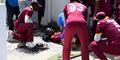 Evin Lewis injured  himself during the West Indies v England Third ODI in Barbados.jpg
