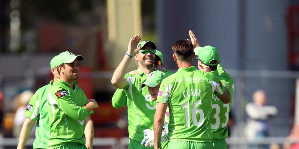 James Anderson celebrates a wicket in the One-Day Cup game against Rapids.JPG