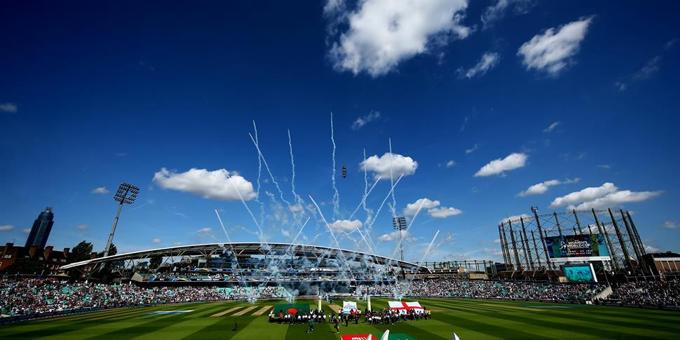 England open the ICC Champions Trophy against Bangladesh at the Kia Oval, Surrey.jpg
