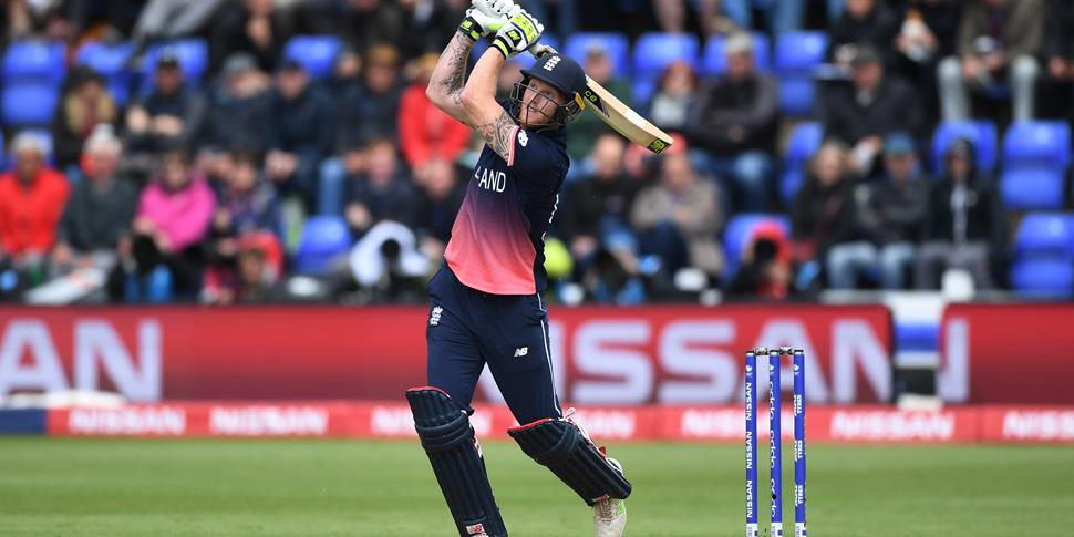 Ben Stokes hits a six for England against New Zealand in the ICC Champions Trophy in Cardiff.jpg