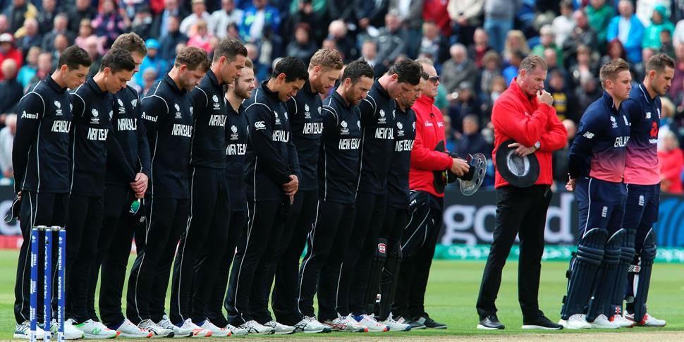 England and NEw Zealand stand for a minutes silence following the terror atatcks in Manchester and London.jpg