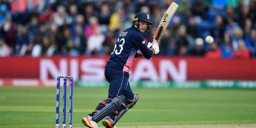 Lancashire and England star Jos Buttler plays a shot in the ICC Champions Trophy fixture against New Zealand.jpg