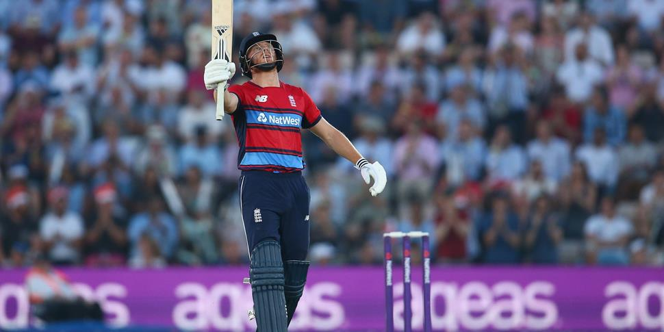 Jonny Bairstow celebrates a half-century for England in the IT20.jpg