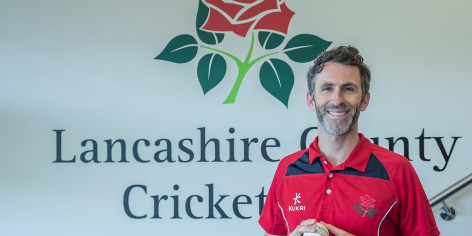 Graham Onions at Emirates Old Trafford, home of Lancashire County Cricket Club.jpg