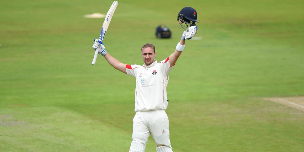 Liam Livingstone celebrates his double century in the Specsavers County Championship.jpg