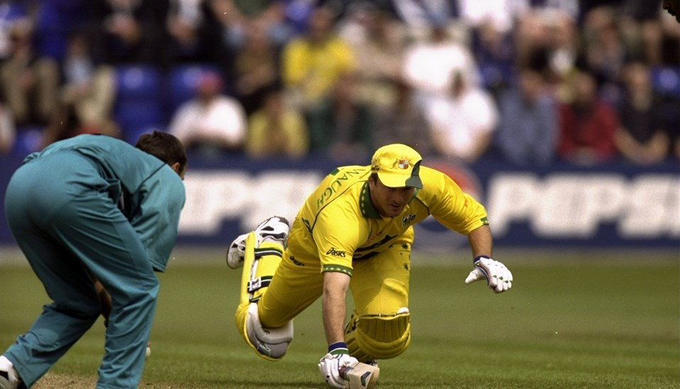 Steve Waugh of Australia takes a dive in the Cricket World Cup match against New Zealand.jpg