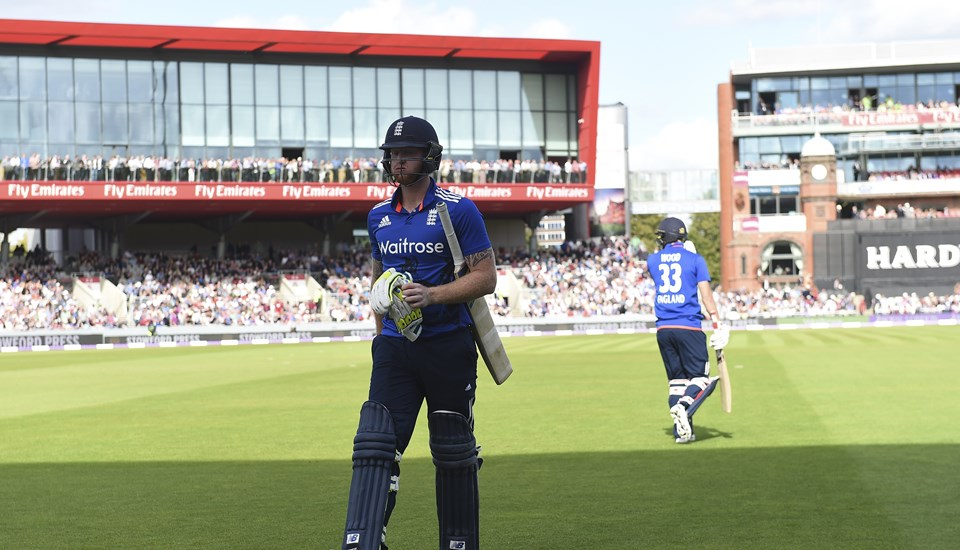 Ben Stokes leaves the field at Emirates Old Trafford after being dismissed against Australia.jpg