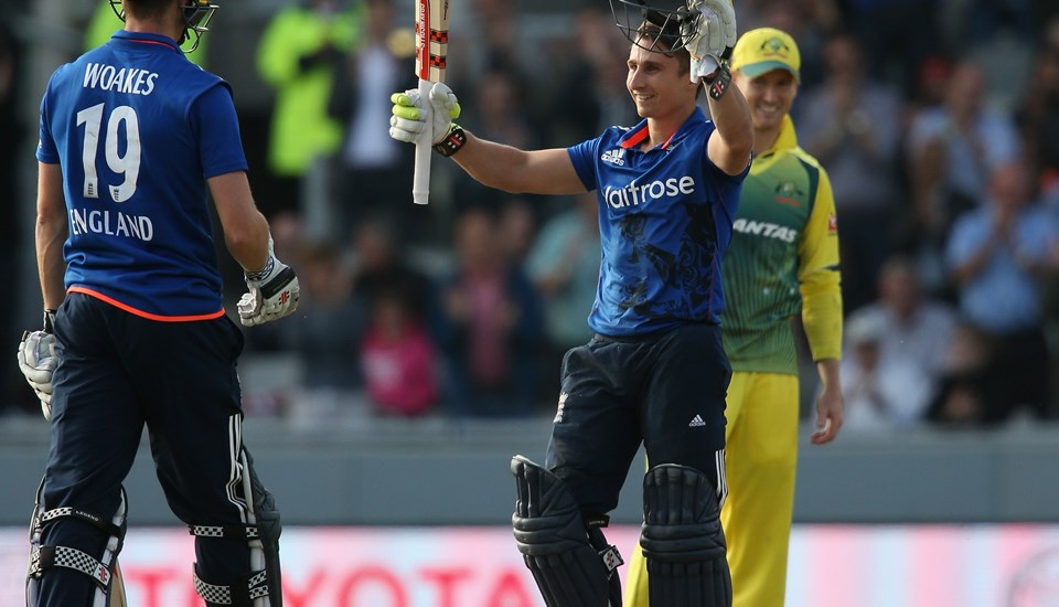 James Taylor celebrates a century for England v Australia at Emirates Old Trafford.jpg