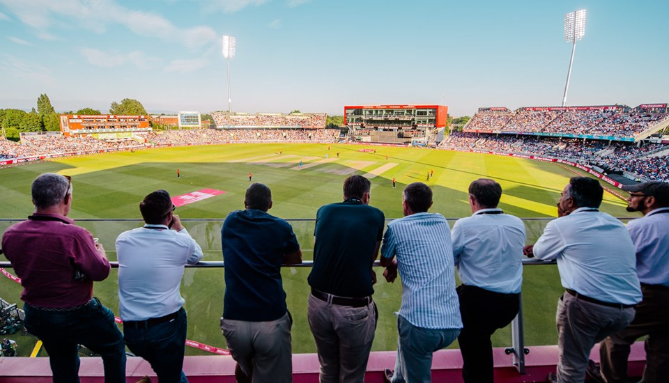 Balcony at Emirates Old Trafford for the ICC Cricket World Cup, Emirates Old Trafford.jpg