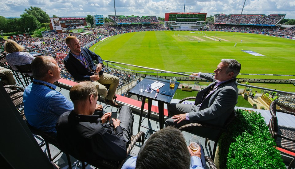Balcony view from the Hilton Garden Inn Emirates Old Trafford.jpg