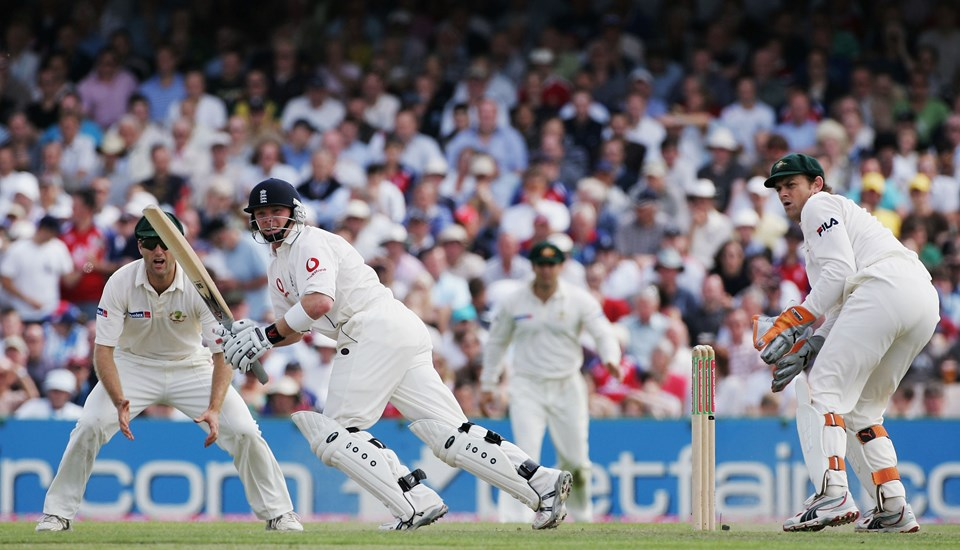 Ian Bell batting for England in the Ashes Test match at Emirates Old Trafford.jpg