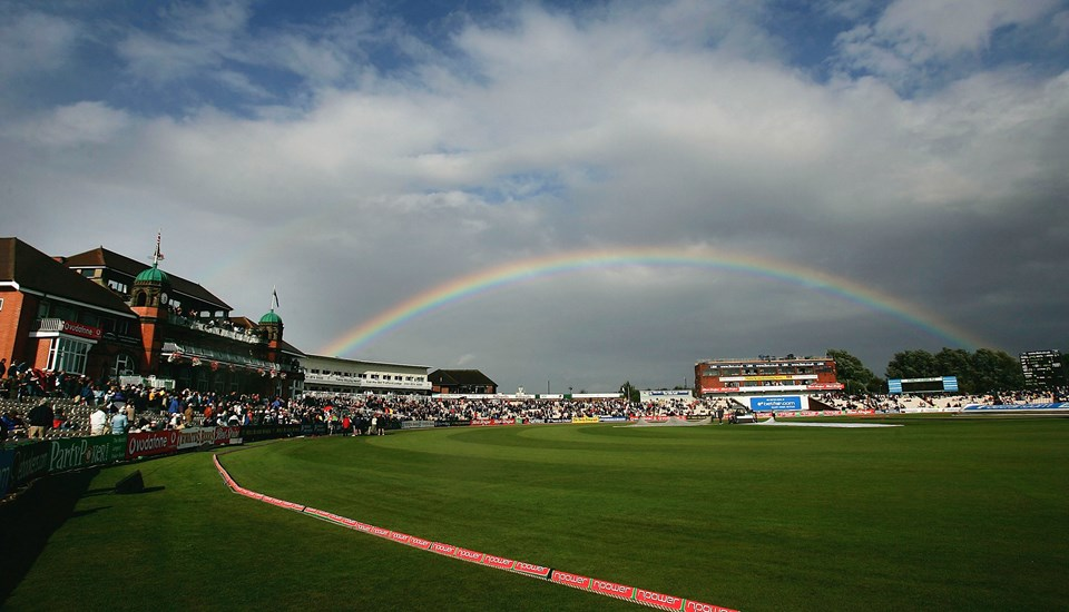 A Rainbow appears over Emirates Old Trafford during a break in play betwen England and Australia.jpg