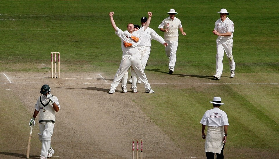 Andrew Flintoff celebrates during the Ashes Test match.jpg