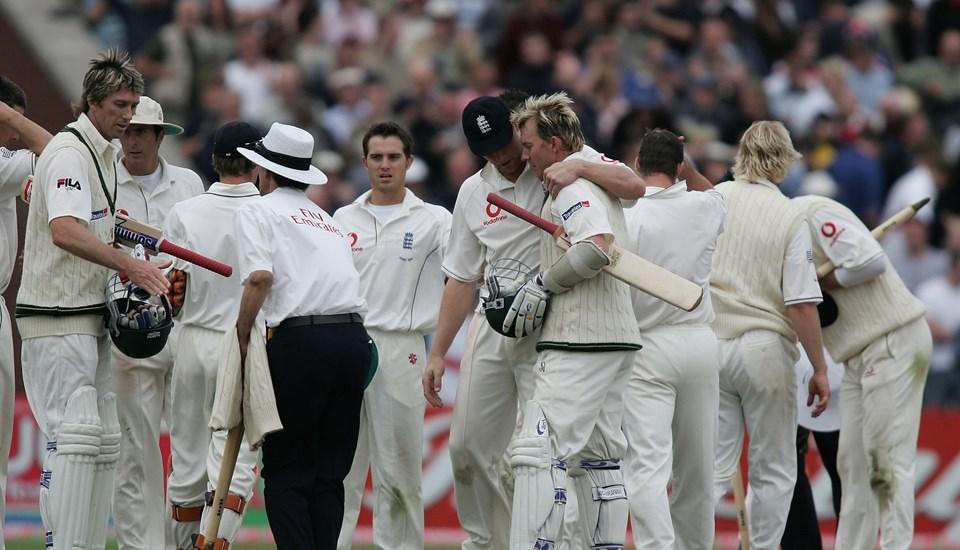 Best ashes moments 2005 draw at Emirates old trafford cricket ground.jpg