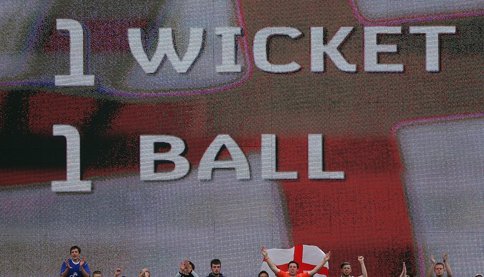 Emirates Old Trafford screen shoing the 2005 Ashes went down to the final ball.jpg