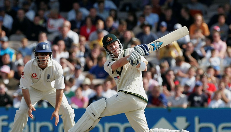 Michael Clarke in action against England in Test cricket.jpg