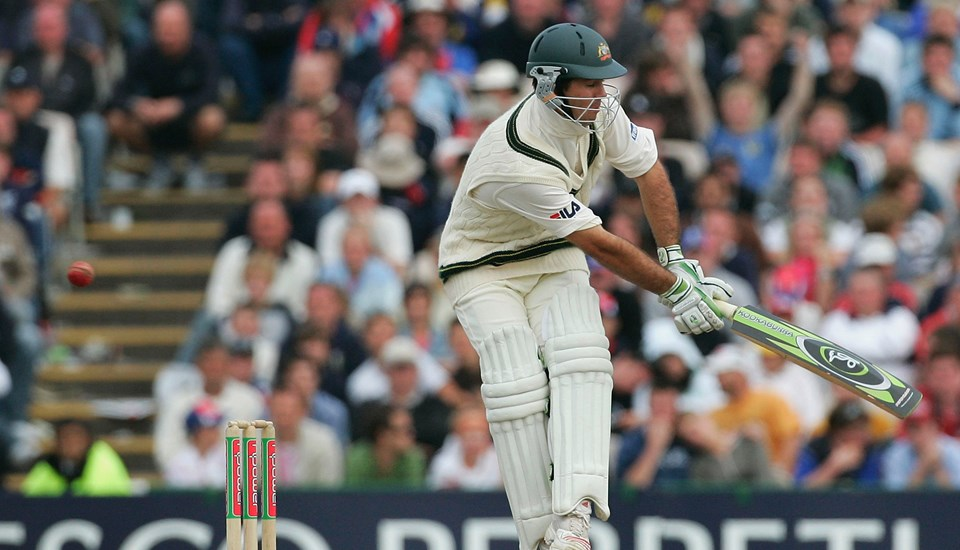 Australia cricketer Ricky Ponting in action during the Ashes Test match at Emirates Old Trafford Cricket Ground.jpg