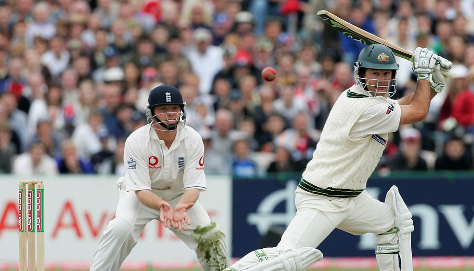 Ricky Ponting batting during the England v Australia Ashes Test match at Emirates Old Trafford Cricket Ground.jpg