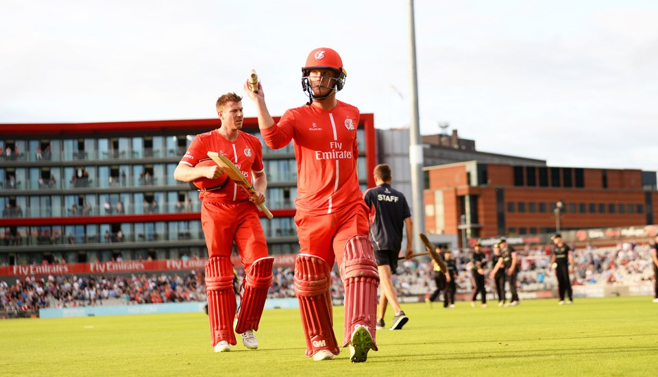 Alex Davies celebrating a century during the T20 cricket match.jpg