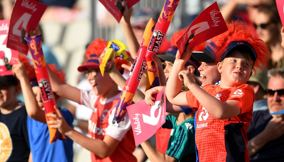 Kids cheering at the Vitality Blast family event.jpg