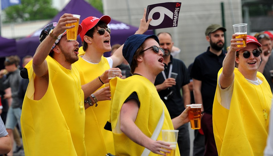 Fancy dress fans at the Roses Match.jpg
