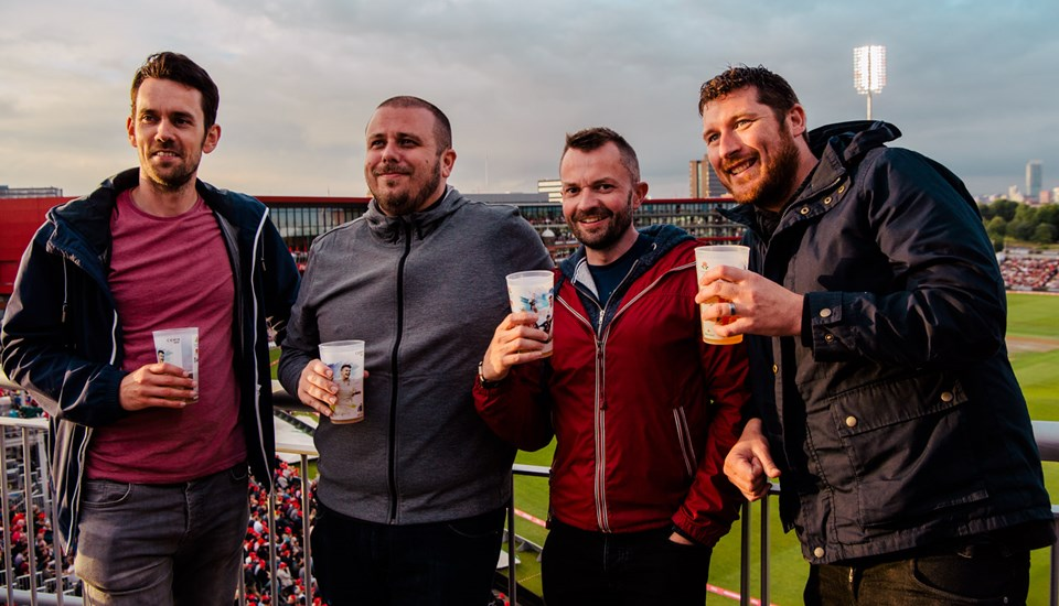 Friends pose for a photo at the Lancashire v Yorkshire T20 clash.jpg